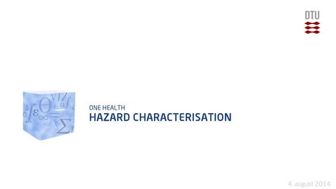 Thumbnail for entry Hazard Characterisation
