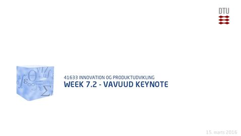 Thumbnail for entry Week 7.2 - Vavuud Keynote