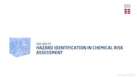 Thumbnail for entry Hazard Identification in Chemical Risk Assessment