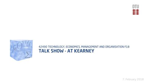 Thumbnail for entry Talk show - AT Kearney