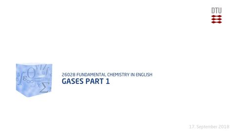 Thumbnail for entry Week 3: Gases Part 1