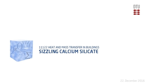 Thumbnail for entry Sizzling Calcium Silicate