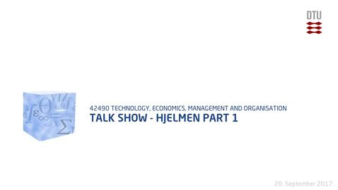 Thumbnail for entry Talk Show - Hjelmen Part 1