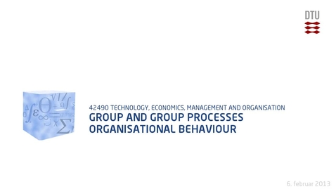 Thumbnail for entry Group And Group Processes Organisational behaviour