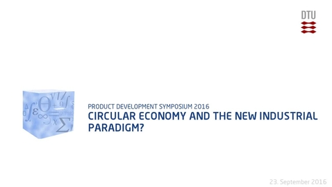 Thumbnail for entry Circular Economy and the New Industrial Paradigm?