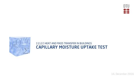 Thumbnail for entry Capillary Moisture Uptake Test