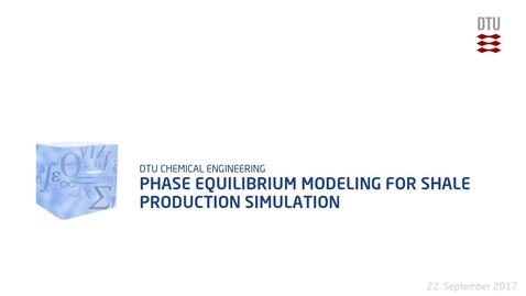 Thumbnail for entry Phase Equilibrium Modeling for Shale Production Simulation