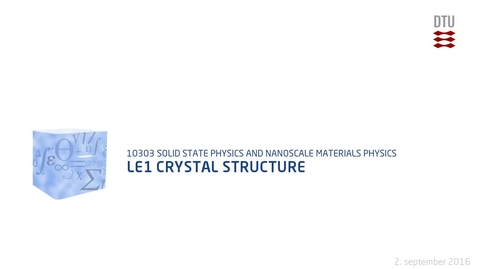 Thumbnail for entry Le1 Crystal structure