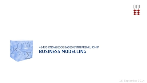 Thumbnail for entry Business Modelling