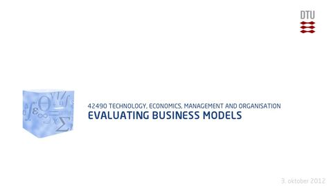 Thumbnail for entry Evaluating Business Models