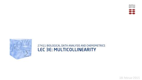 Thumbnail for entry Lec 3E: Multicollinearity
