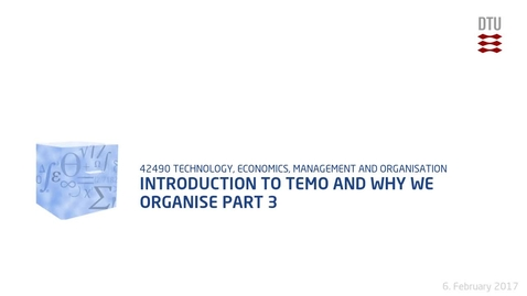 Thumbnail for entry Introduction to TEMO and why we organise Part 3