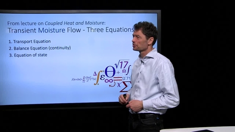 Thumbnail for entry Transient Moisture Flow - Three Equations - 20170215
