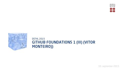 Thumbnail for entry GitHub Foundations 1 (III) (Vitor Monteiro))
