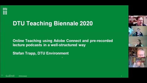 Thumbnail for entry Online Teaching using Adobe Connect and pre-recorded lecture podcasts in a well-structured way, Stefan Trapp, DTU Aqua