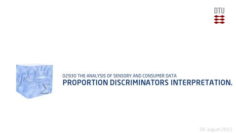 Thumbnail for entry Proportion discriminators interpretation.