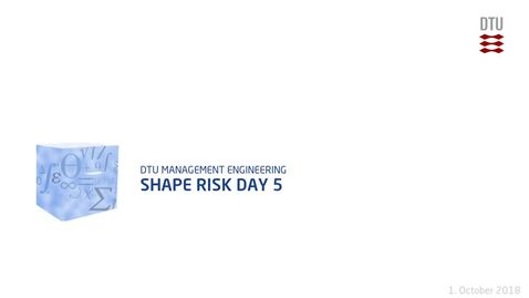 Thumbnail for entry Shape Risk Day 5