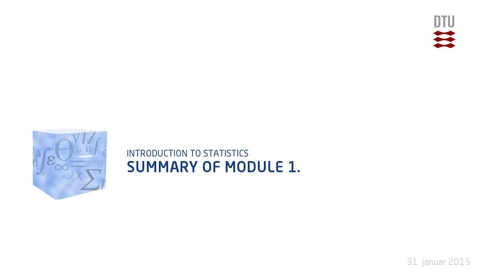 Thumbnail for entry Summary of Module 1.