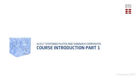 Thumbnail for entry Lecture 1: Course Introduction Part 1