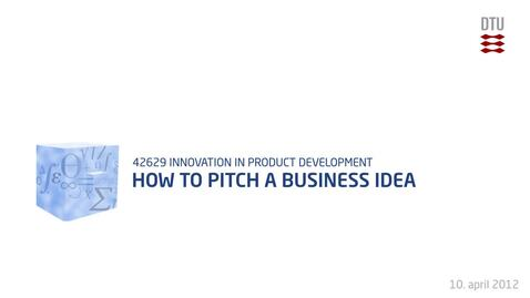 Thumbnail for entry 10-1/1: How To Pitch A Business Idea