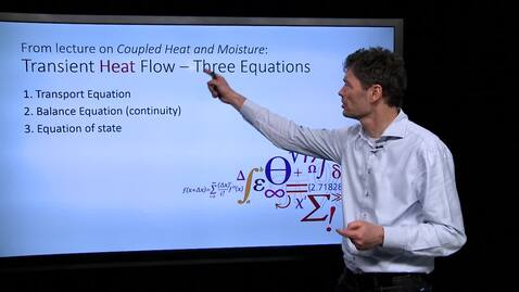 Thumbnail for entry Transient Heat Flow - Three Equations - 20170215