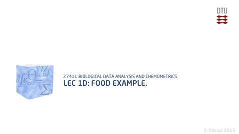 Thumbnail for entry Lec 1D: Food example.