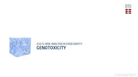 Thumbnail for entry Genotoxicity
