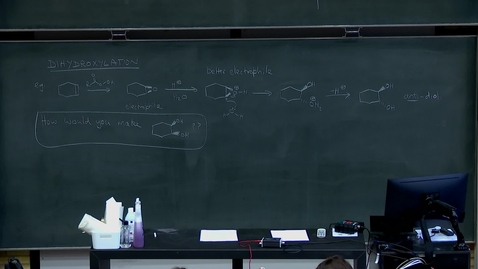 Thumbnail for entry Electrophilic addition to alkenes, part 3