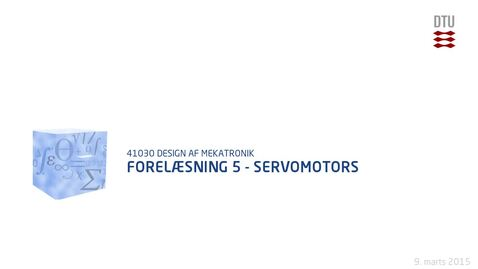 Thumbnail for entry Forelæsning 5 - Servomotors