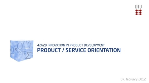 Thumbnail for entry 02-4/5: Product/Service Orientation