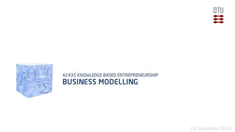 Thumbnail for entry Business Modelling (480p)