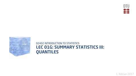 Thumbnail for entry Lec 01G: Summary statistics III: Quantiles