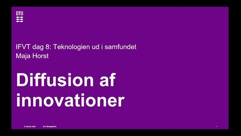 Thumbnail for entry Diffusion af innovationer