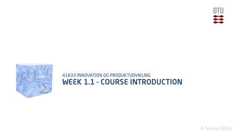 Thumbnail for entry Week 1.1 - Course Introduction