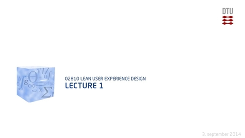 Thumbnail for entry Lecture 1