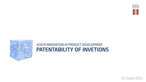 Thumbnail for entry 09-2/4: Patentability of inventions