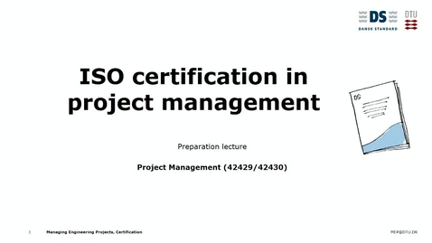 Thumbnail for entry ISO certification lecture by Christian Thuesen