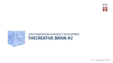Thumbnail for entry 04-3/4: The creative brain 2