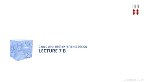 Thumbnail for entry Lecture 7 B
