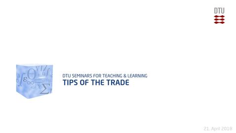 Thumbnail for entry Tips of the Trade