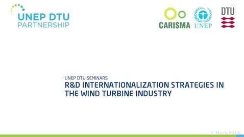 Thumbnail for entry R&D internationalization strategies in the wind turbine industry