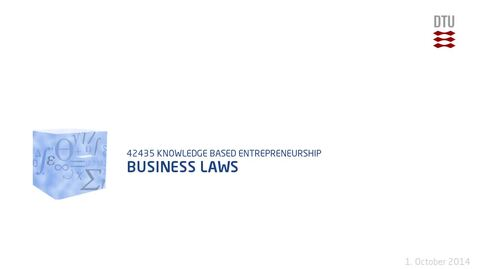 Thumbnail for entry Business Laws
