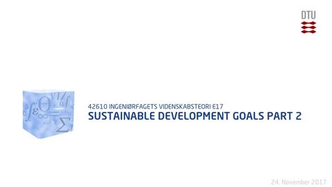 Thumbnail for entry Sustainable Development Goals Part 2