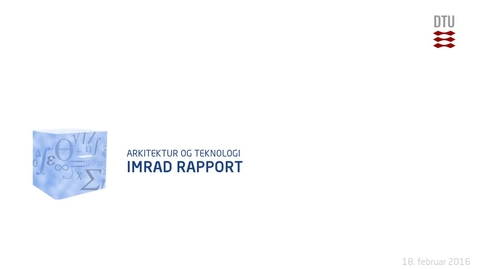 Thumbnail for entry IMRAD RAPPORT