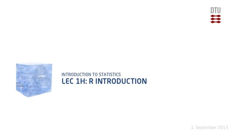 Thumbnail for entry Lec 1H: R Introduction (480p)