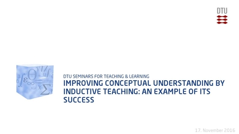 Thumbnail for entry Improving conceptual understanding by inductive teaching: An example of its success