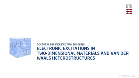 Thumbnail for entry Electronic Excitations in Two-dimensional Materials and van der Waals Heterostructures