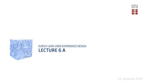 Thumbnail for entry Lecture 6 A