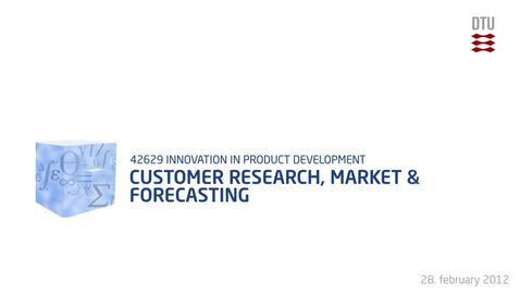 Thumbnail for entry 05-1/4: Customer Research, Market & Forecasting