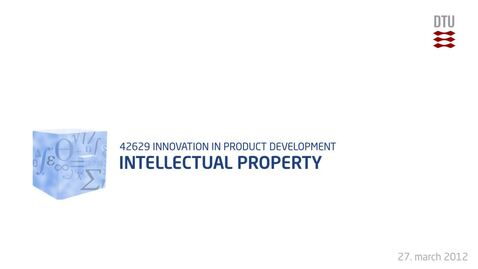 Thumbnail for entry 09-1/4: Intellectual Property